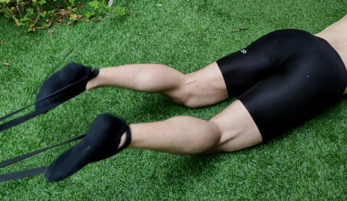 Leg Curl with Resistance Bands