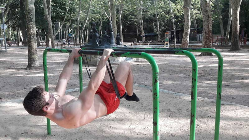 Learn Front Lever with elastic band