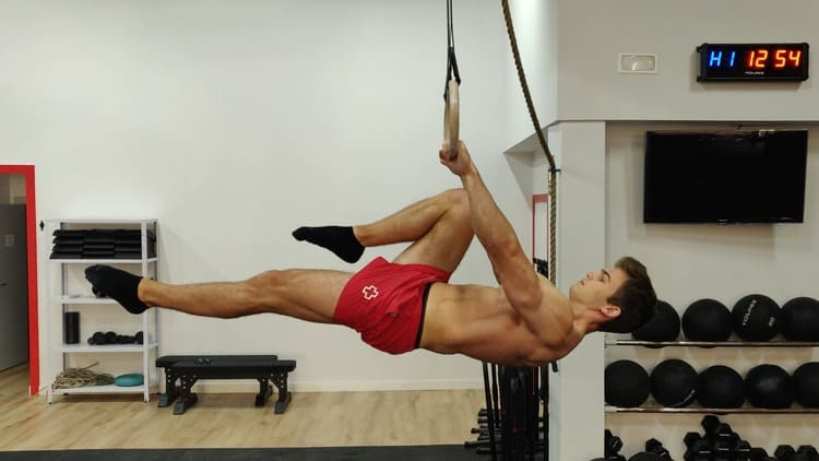 One leg front lever