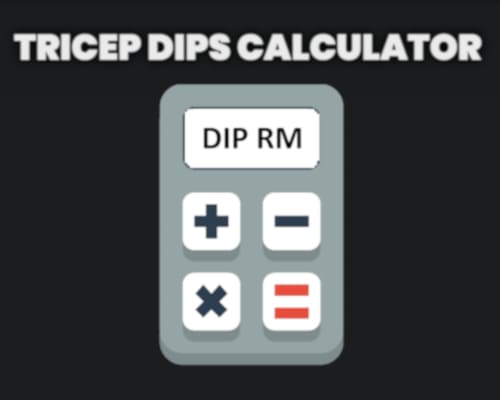 Weighted tricep dips calculator